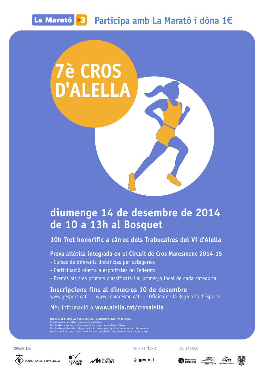 Cartel del 7è Cros d'Alella. [Imagen: www.alella.cat]