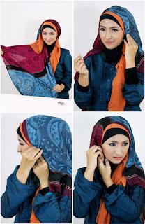 Tutorial hijab kombinasi unik 5 Tutorial Hijab Kombinasi Unik Untuk ke Pesta