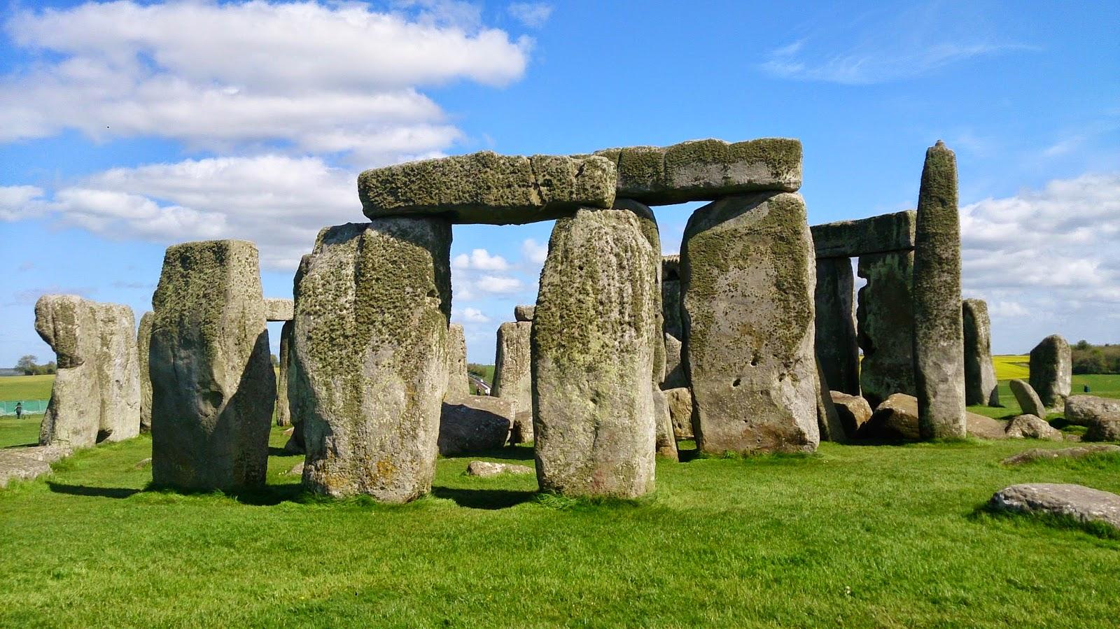 英國 單車 足球 聚舊之旅 遊客中心 石柱群模型 Stonehenge