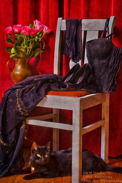 gunadesign guna andersone black cat vintage chair women underwear