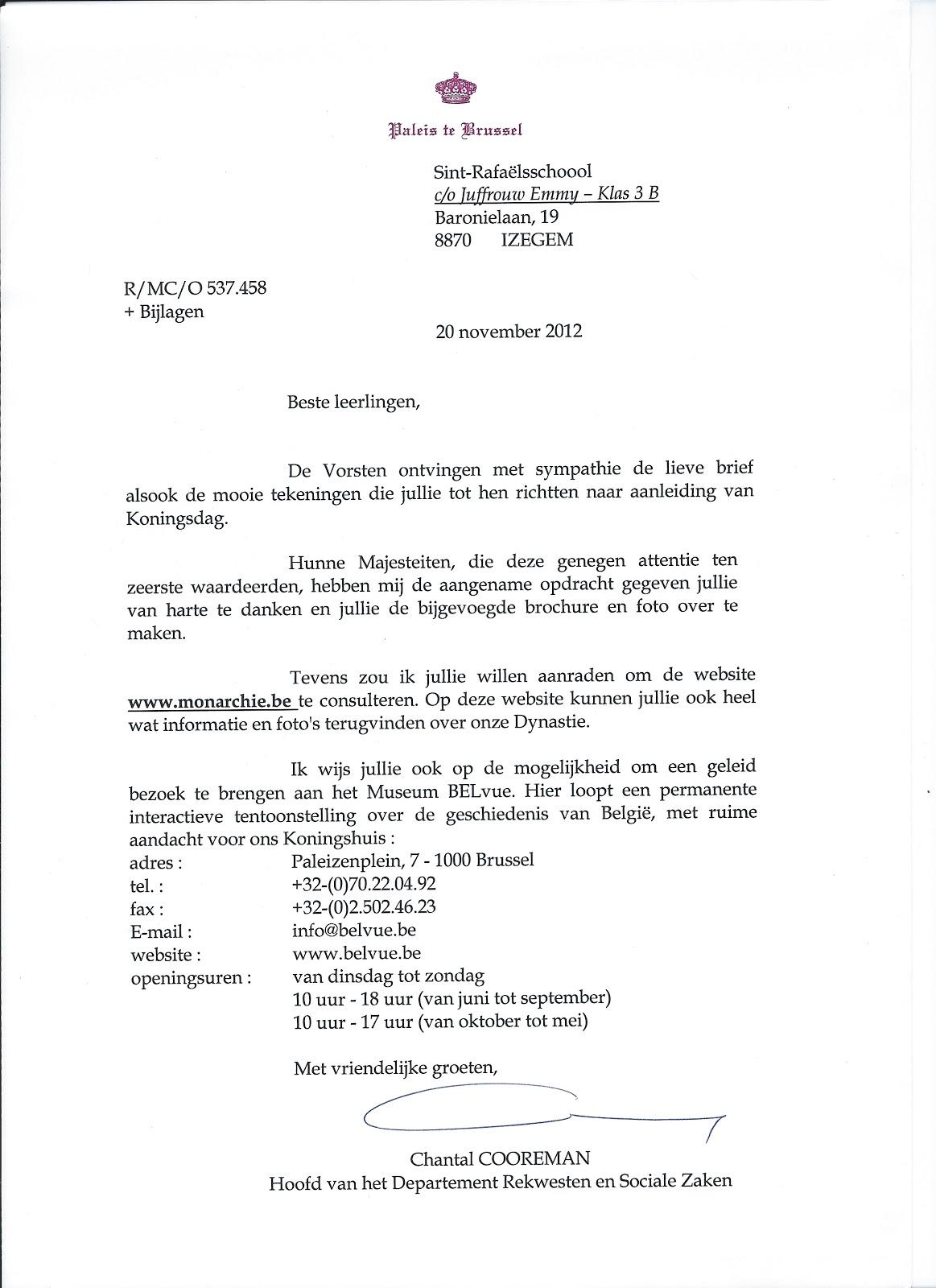 klas 3b blogt!: Koninklijke post