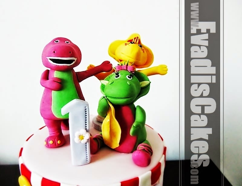Sugarpaste design for Barney and Friends