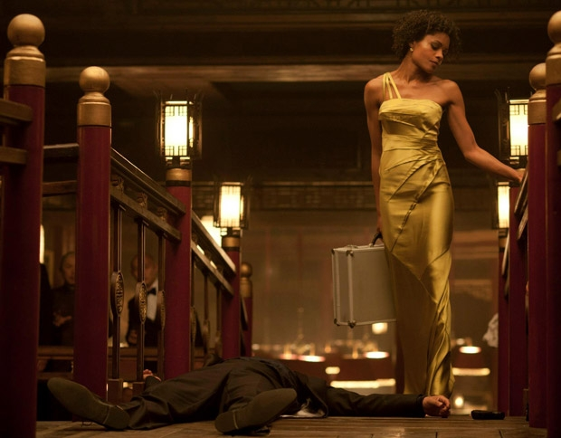 Naomie Harris in the new James Bond wearing Amanda Wakeley dress