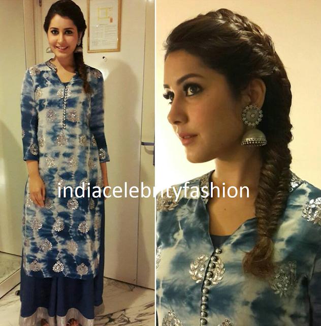Raashi Khanna's Angasutra Outfit for Shivam Promotions