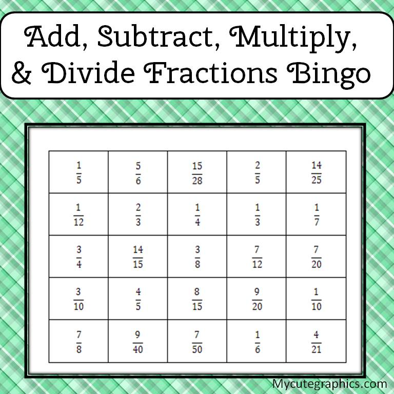 Simone\'s Math Resources: Add, Subtract, Multiply, and Divide ...
