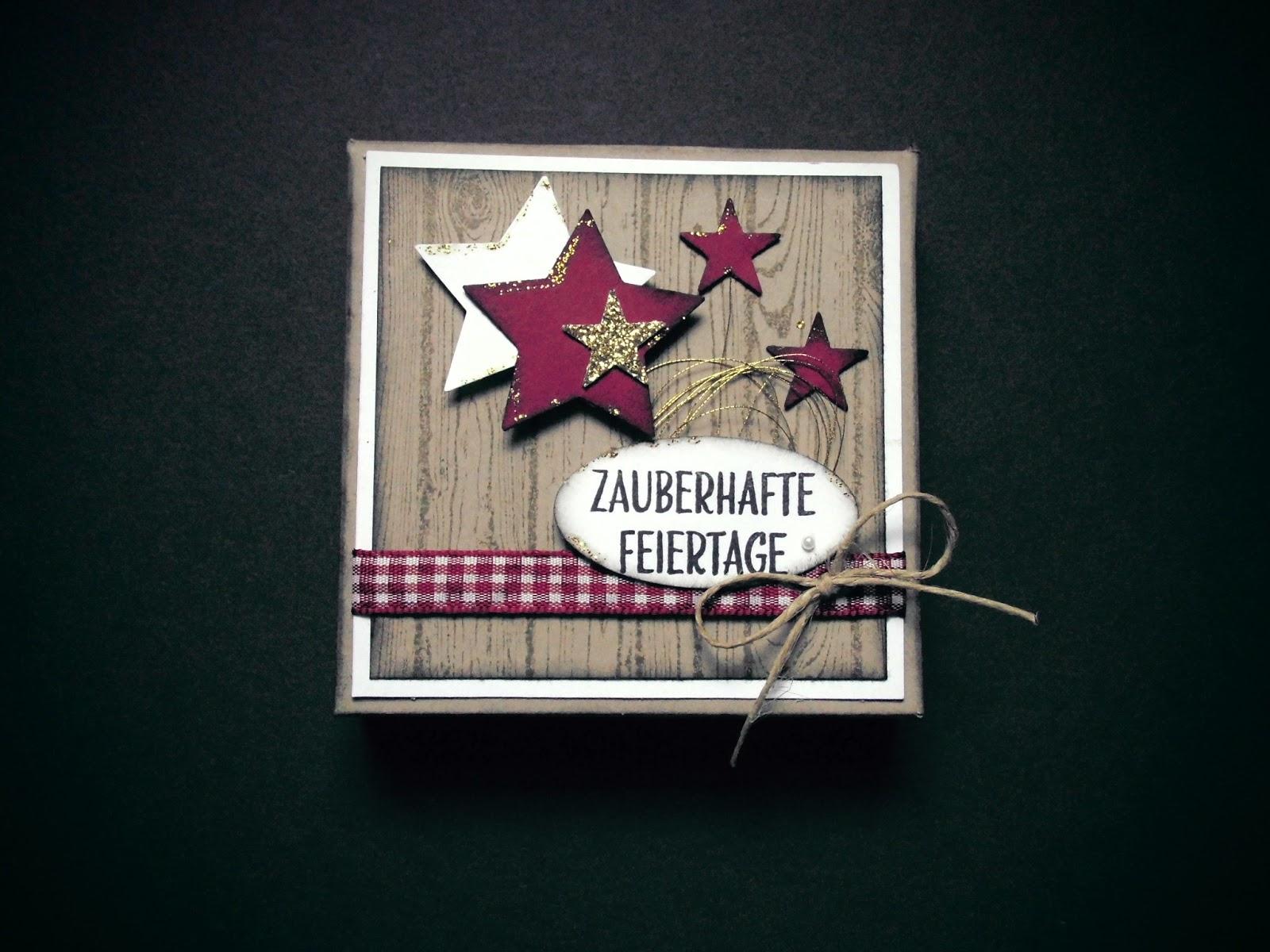 Kreativ am deich eine kleine weihnachtskarten box - Weihnachtskarten kreativ ...