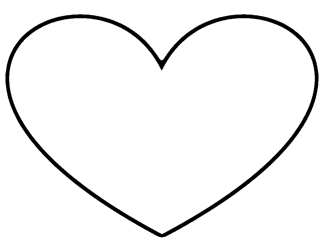 Images of Heart Shape Coloring Page - #SpaceHero