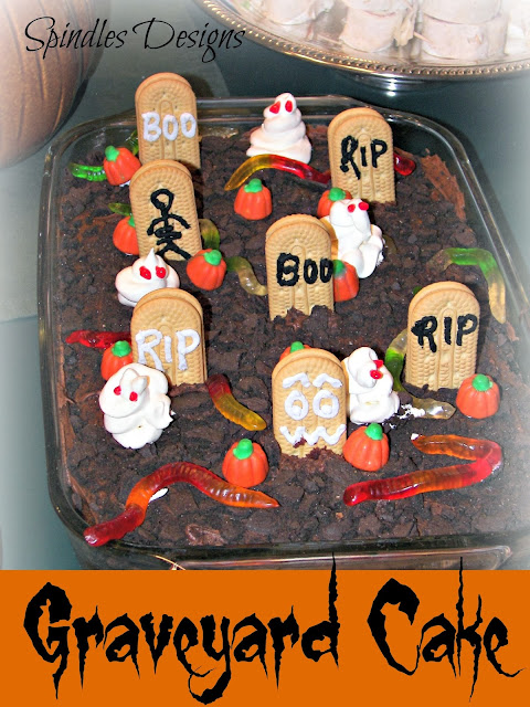 Graveyard Cake from Spindles Designs by Mary & Mags