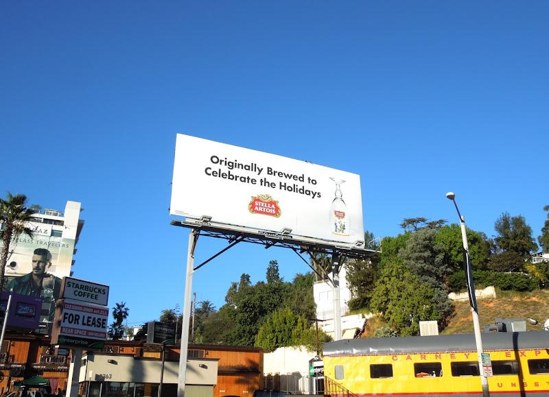 Stella Artois Celebrate Holidays billboard