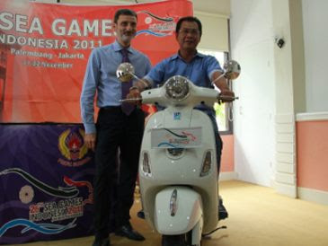 In SEA Games 2011 Vespa piagio became Official Motor, this europe