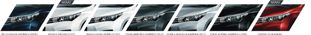 Cores do Novo corolla 2015