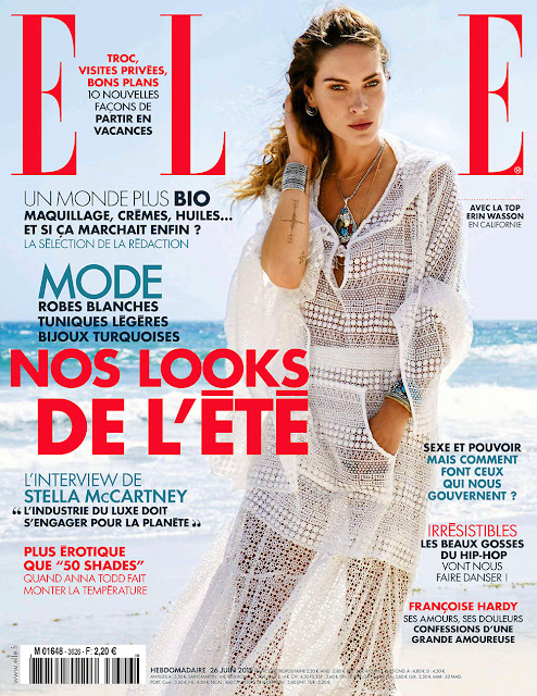 Supermodel @ Erin Wasson by Pamela Hanson for Elle France, June 2015