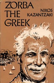 Portada de una edición de la novela de Nilps Kazantzaki, Zorba el Griego, Zorba de Greek