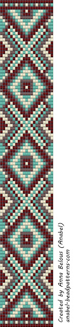 бисероплетение схемы ткачество бисер anabel loom beaded pattern