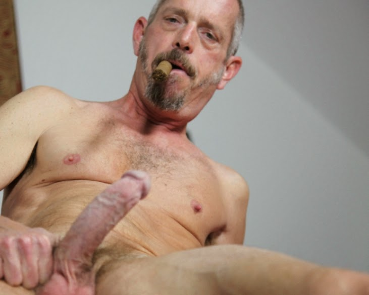 Gay man smoking fetish