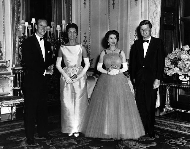Queen Elizabeth and President John F. Kennedy