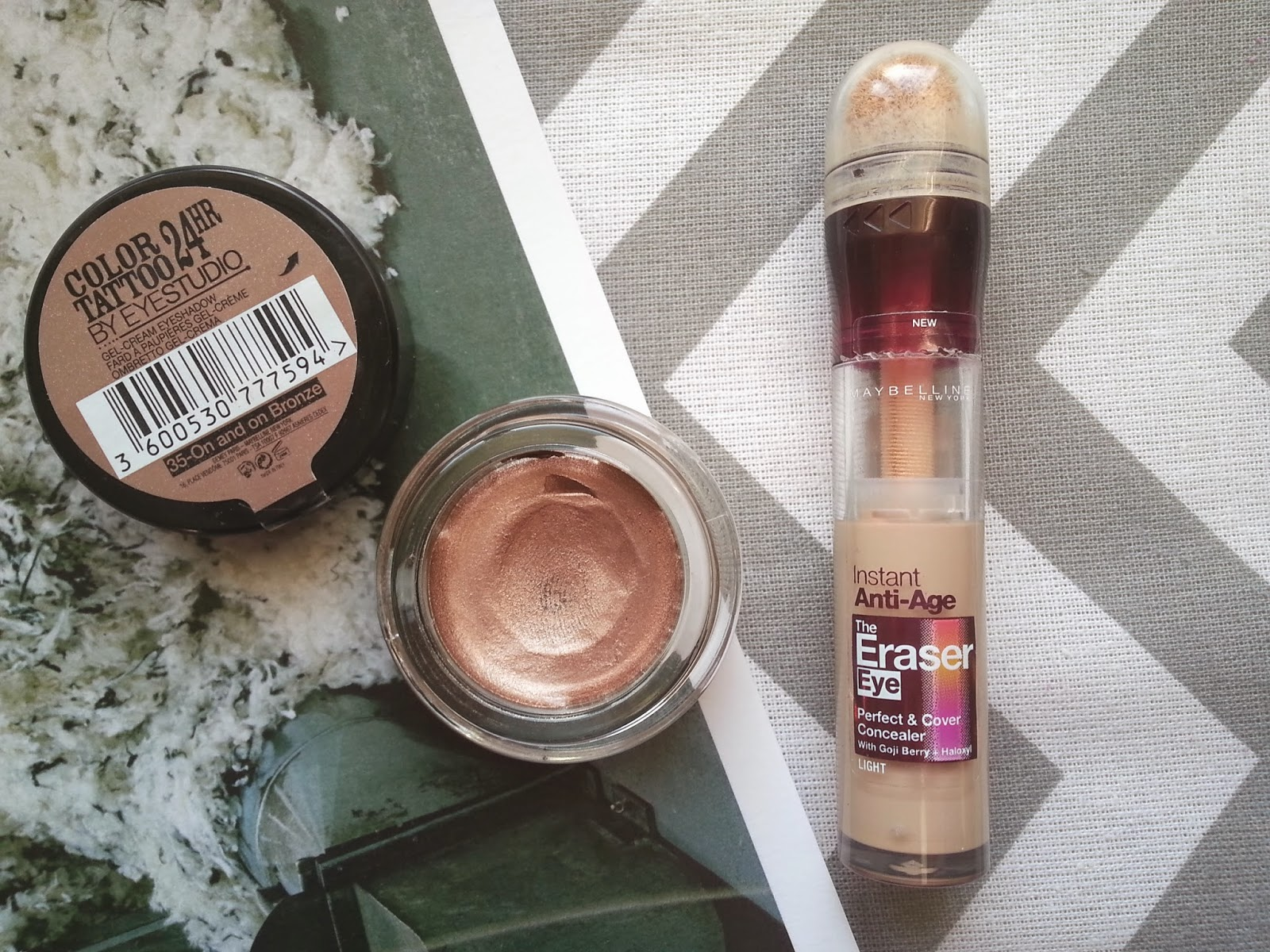 Maybelline On and On Bronze Color Tattoo Eraser Eye Concealer Review