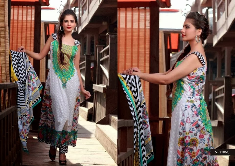 Charming Colored Lawn Dresses