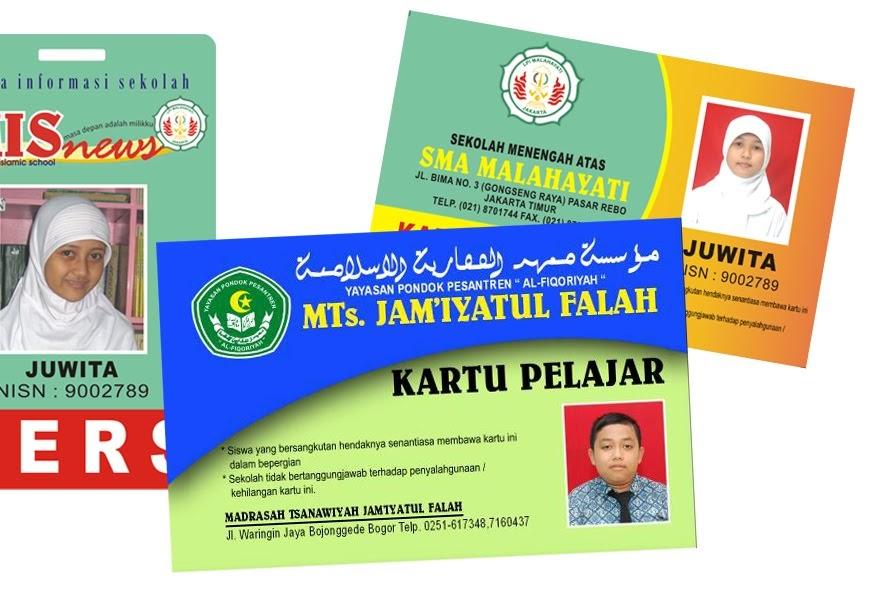 Template Kartu Pelajar Id Card Sekolah Blog Azis Grafis
