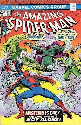 Spider-Man, Mysterio, Dr Octopus, Jackal, Morbius, Vulture