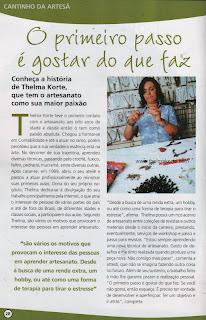 MATÉRIA SOBRE O TRABALHO DE THELMA KORTE PLUBLICADO PELA REVISTA ARTE PRÁTICA DA CASE EDITORIAL