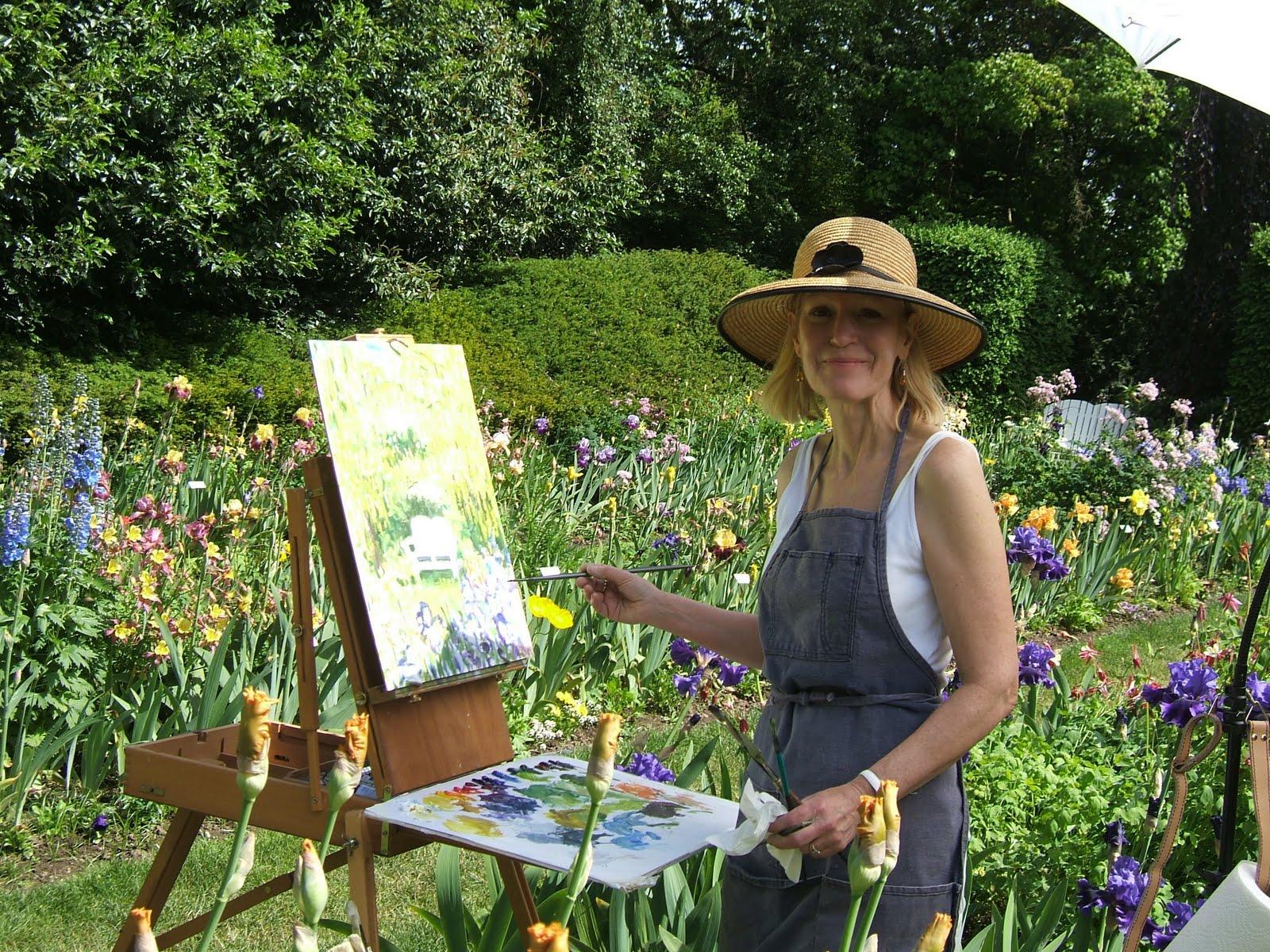 Plein Air Brooks Schreiner 39 S Iris Gardens Paintout 2011