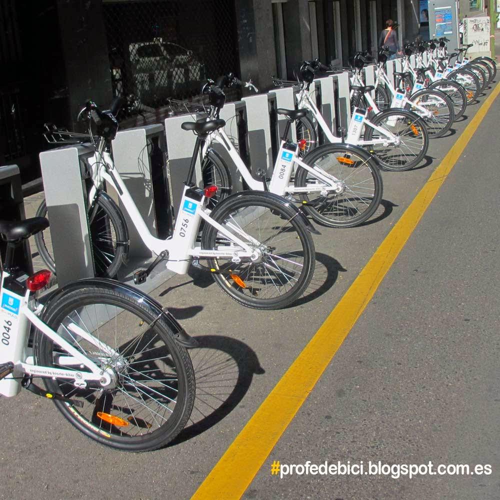 Profe de bici bicimad hoy empieza el servicio en madrid - Anclaje para bicicletas ...