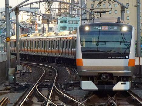 中央線 快速 立川行き E233系