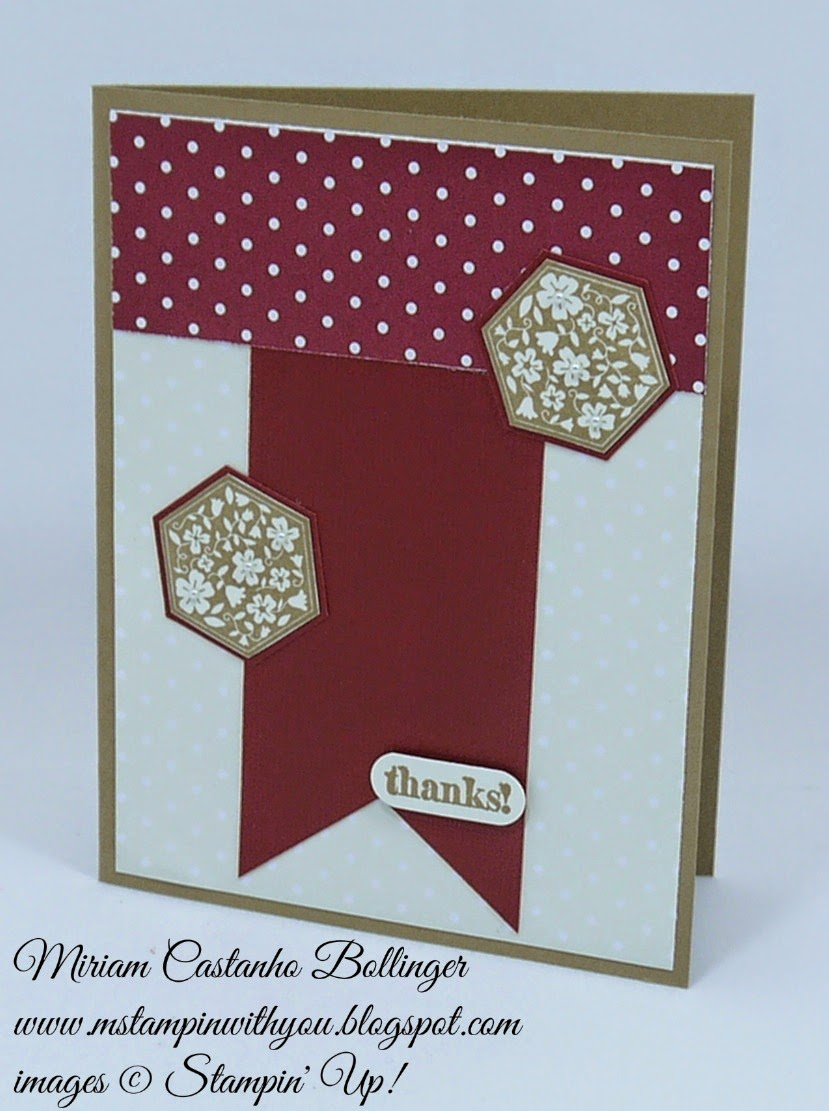 Miriam Castanho Bollinger, mstampinwithyou, stampin up, demonstrator, ppa, fusion, six-sided sampler stamp set, lots of thanks, su