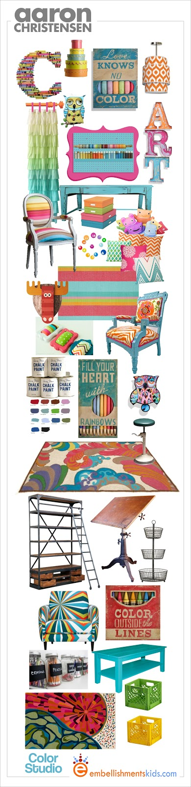 Craft Room Colorful Mood Board Decor Ideas Aaron Christensen