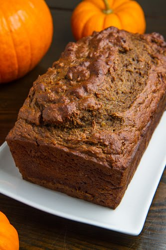 This pumpkin Greek yogurt banana bread with vanilla bourbon caramel ...