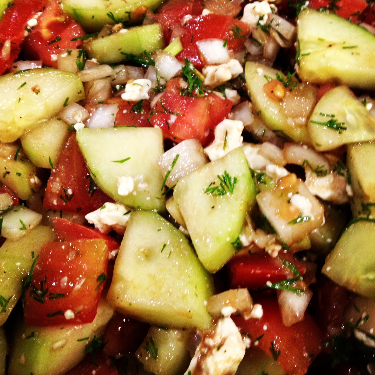 cucumber tomato and feta salad recipe yummly cucumber tomato and feta ...