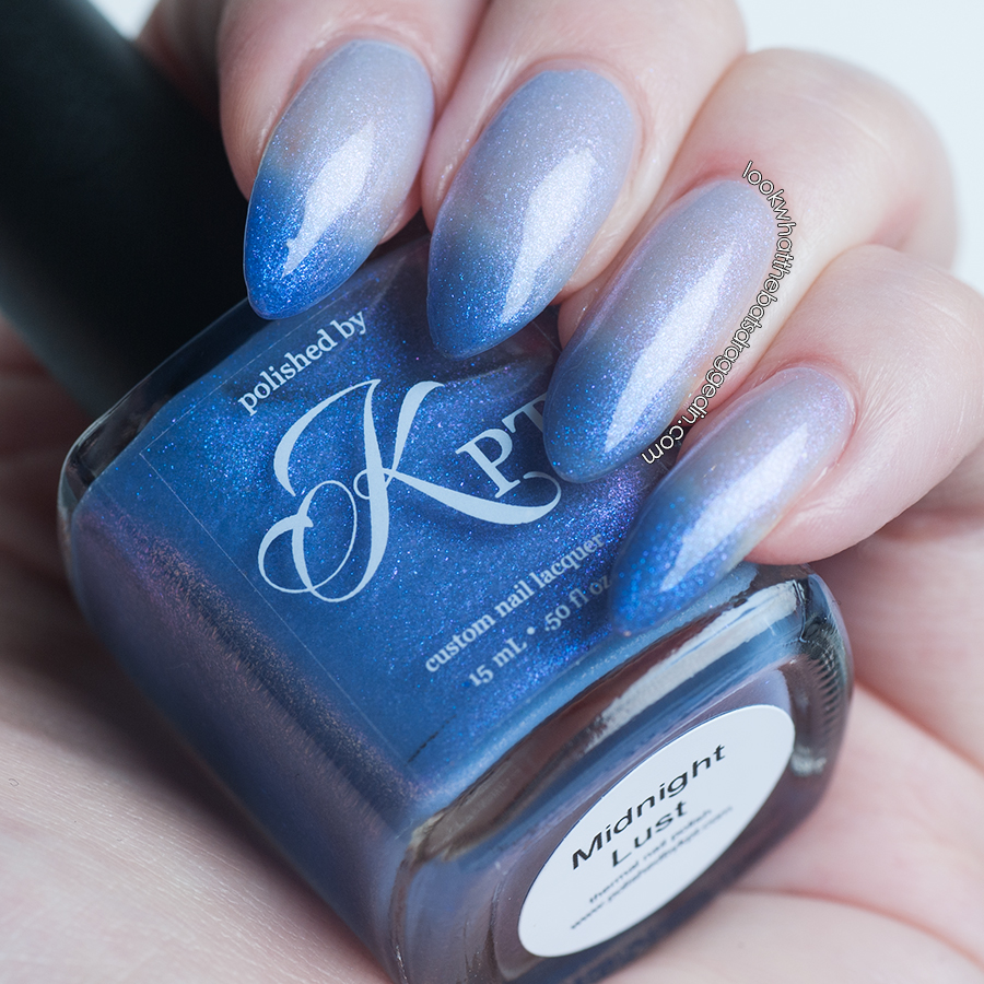 Polished by KPT Midnight Lust thermal nail polish swatch