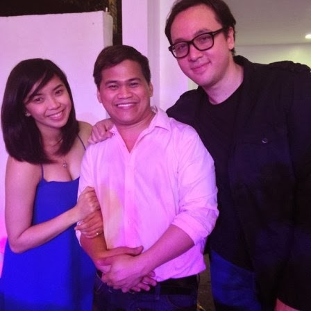 Fille Cainglet and Direk Lino Cayetano with Ogie Diaz. The wedding of the couple is set this December.