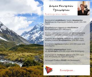 Δήμος Κ.Τζουμέρκων: Ανάπτυξη στην πράξη. Δεσμεύσεις που έγιναν έργα