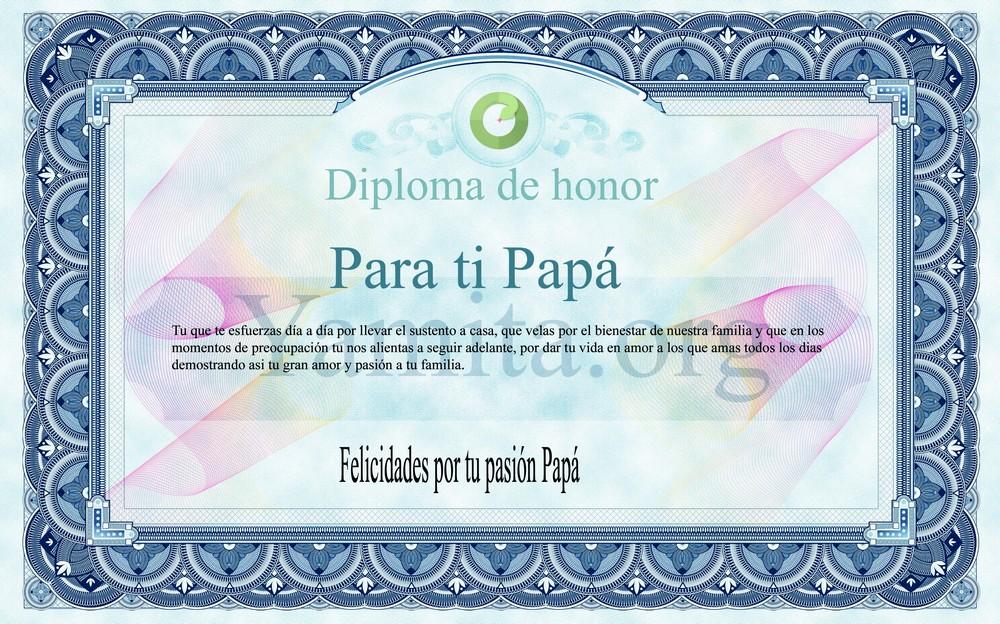 Diploma Para El DIA Del Padre