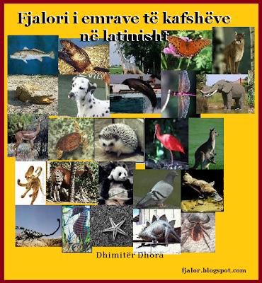 Fjalor Latinisht Shqip i emrave te kafsheve