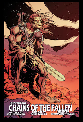 Bigfoot Sword of the Earthman barbarian Comic book preview page two