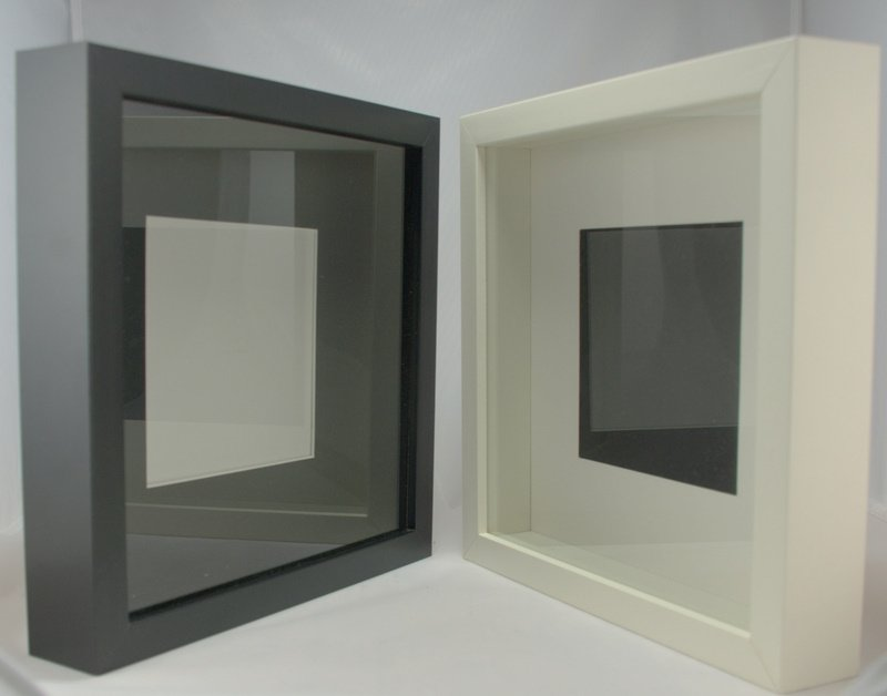 you can buy these shadow boxes and they look like this - Diy Shadow Box Frame