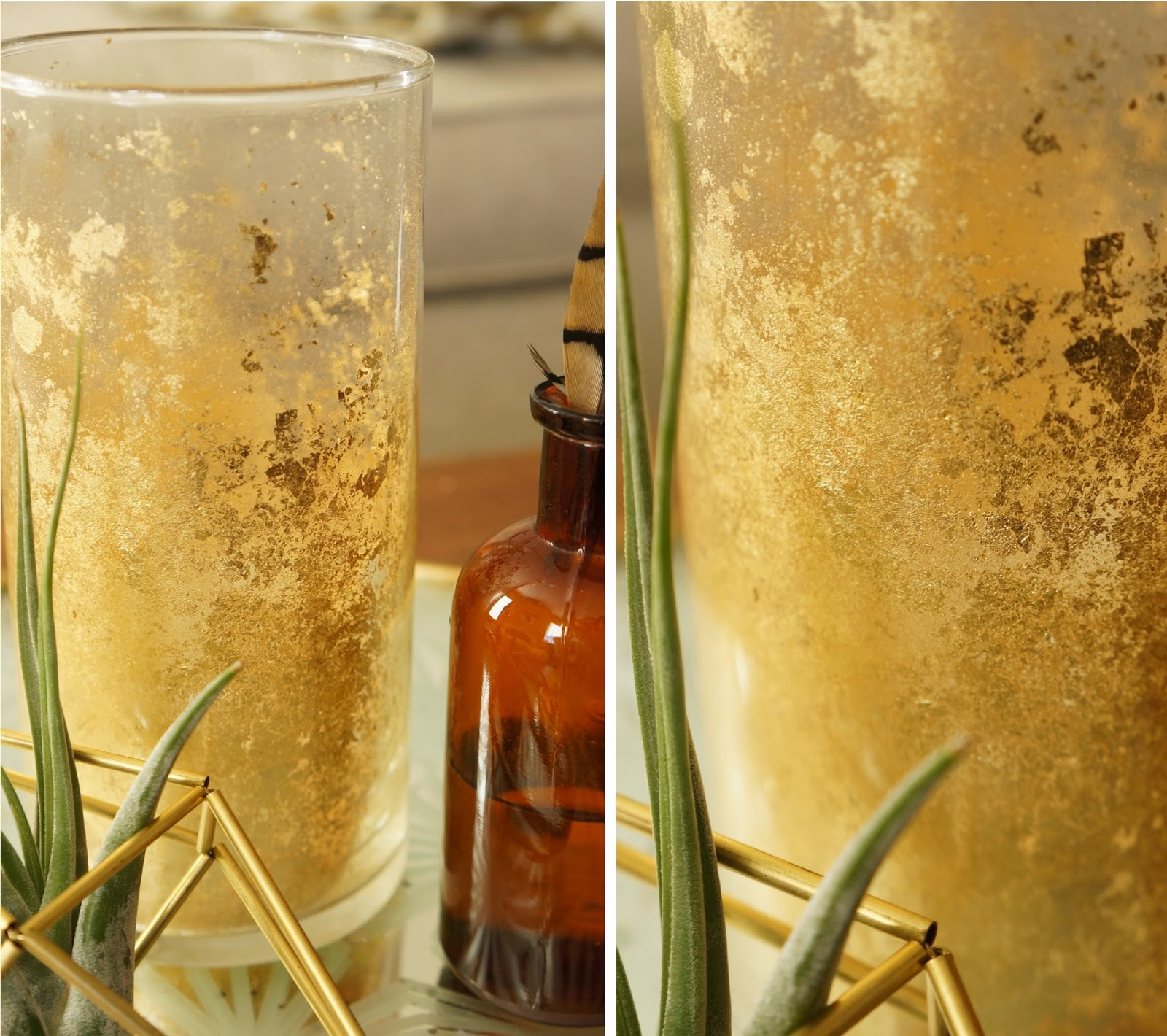 Diy gold mercury vase harvesting love events materials reviewsmspy