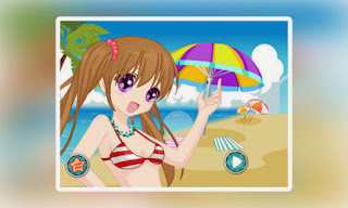 Screenshots of the Beach Cute Girl for Android tablet, phone.