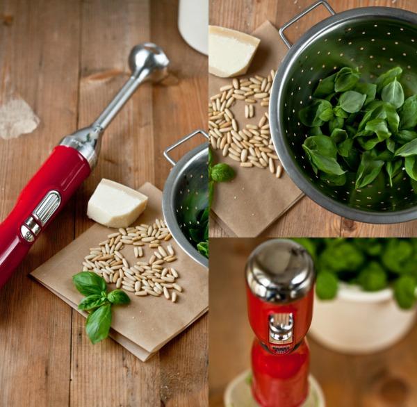 Kitchen Aid Stabmixer Artisan Pesto mixen schnell
