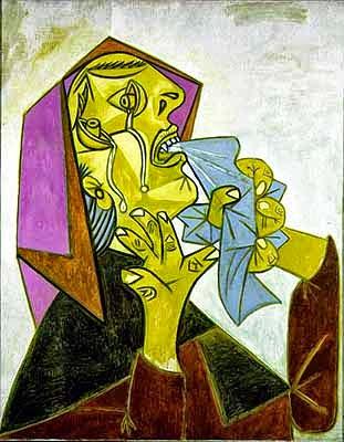 Cabeza de mujer llorando con pañuelo Pablo Picasso (1937)