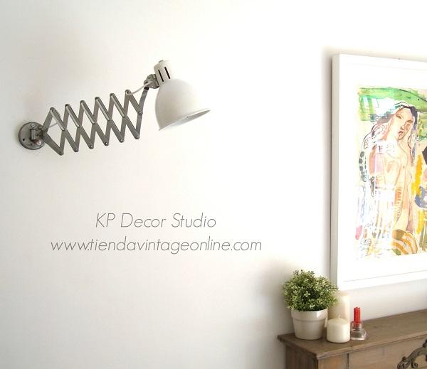 Apliques pared con fuelle metálico decorativo marca metalarte