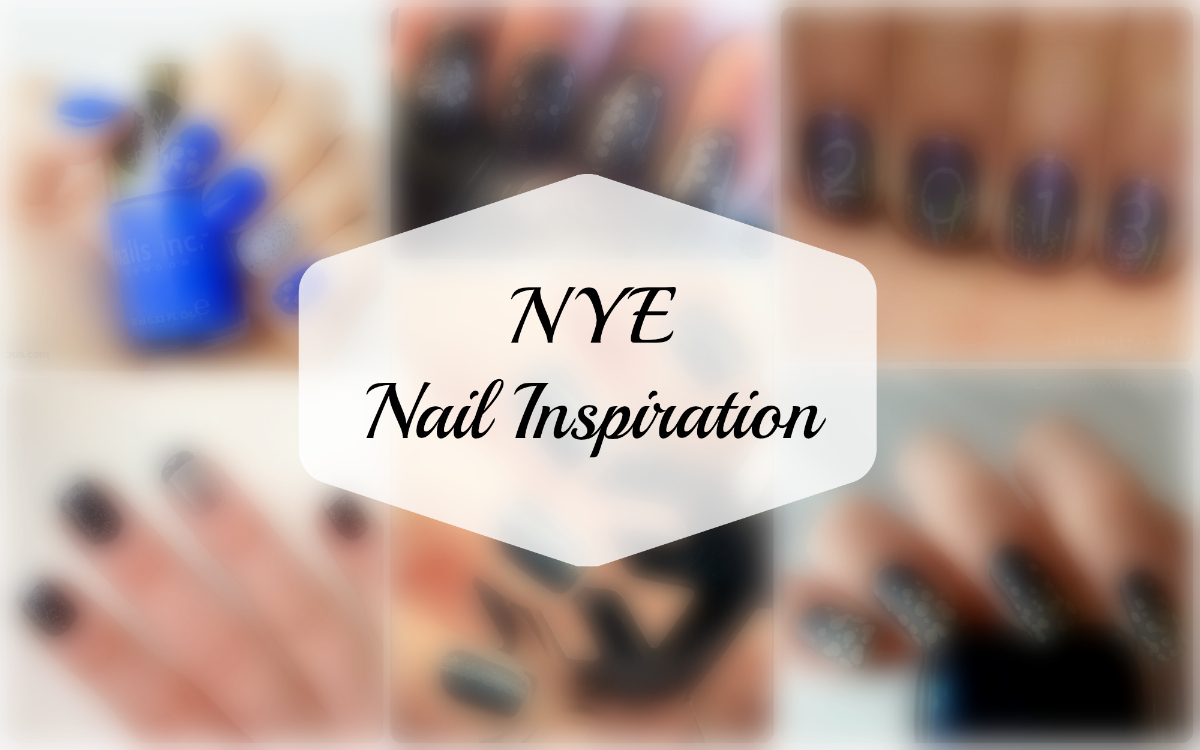 New Year's/New Year's Eve nail polish art inspiration