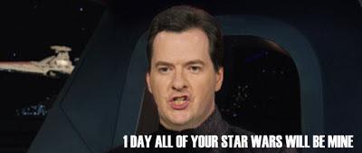 Chancellor Osborne aboard Super Star Destroyer Exchequer