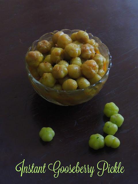 Instant ari nellikai urugai, Instant gooseberry pickle