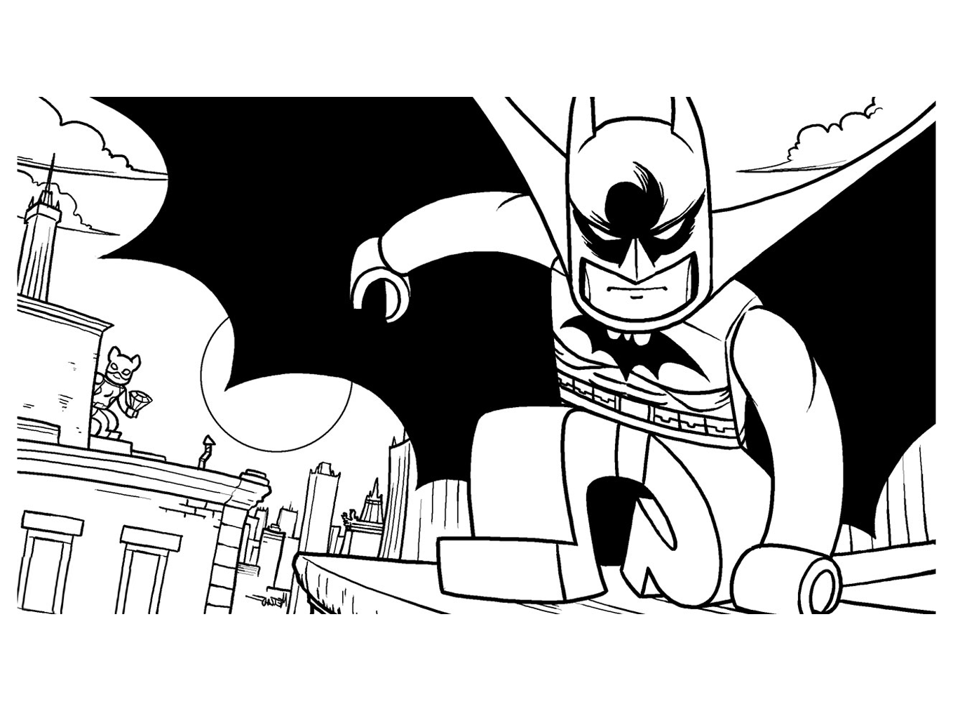 Blog megadiverso batman para imprimir y colorear - Batman a colorier ...