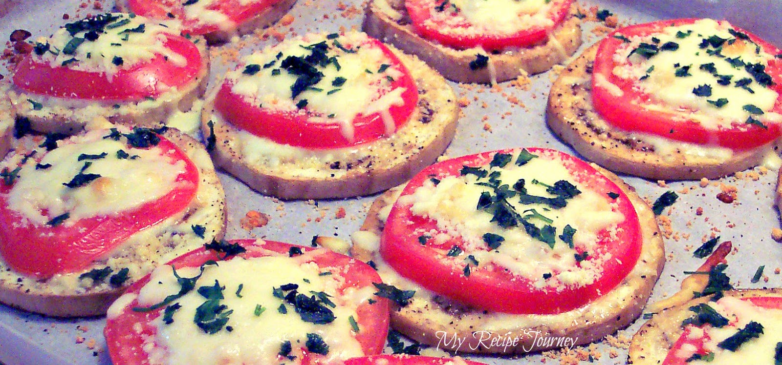 Baked Eggplant and Tomato Stacks