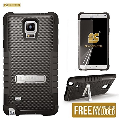 Beyond CellTM Tri Shield® Rugged Phone Armor Case [Black] for Samsung Galaxy Note 4